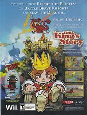 Nintendo Wii LITTLE KING'S STORY video game magazine print ad page