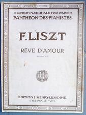 Partition ancienne Piano LISZT REVE D'AMOUR Editions Henry LEMOINE