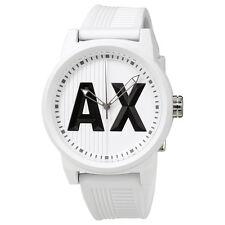 Armani Exchange ATLC White Silicone Strap Mens Watch AX1450