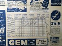 Jackie Robinson Signed Autographed Brooklyn Dodgers Program- JSA HOF