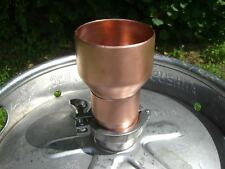 "Moonshine Still Beer Keg 2"" x 3"" Copper Pipe Column Adapter Tri Clamp alcohol"