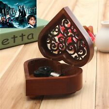 Heart Wood Silver Wind Up Music Box :Hedwig's Theme Soundtrack / Prologue