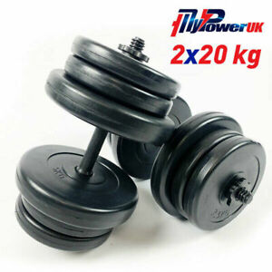 NEW Dumbells Set 40/50kg Pair Gym Weights Barbell Dumbbell Fitness