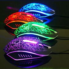 Optische 2400 DPI Gaming Maus 7 Tasten Lava Riss Maus Luminous Horsemen Mouse PC