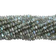 Labradorite Plain Rondelle Beads 3-5mm Grey 120+ Pcs Handcut Gemstones Jewellery