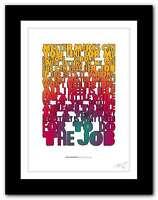 PAUL MCCARTNEY Temporary Secretary ❤ song lyrics typography poster art print #65