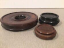 New ListingVintage Japanese Carved Wood Vase Display Stand - lot of 3