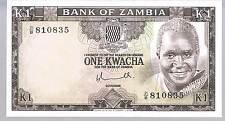 ZAMBIA  BANKNOTE 1 P19 1976 UNC
