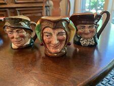 3 Royal Doulton Toby Mugs