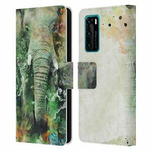 OFFICIAL RIZA PEKER ANIMALS LEATHER BOOK CASE FOR HUAWEI PHONES