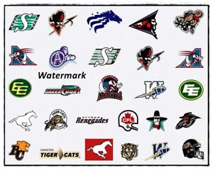 1994 CFL USA Expansion Team Logo's Color 8 X 10 Photo Picture