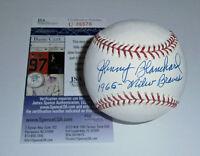 BRAVES Johnny Blanchard signed baseball w/ 1965 Braves JSA COA AUTO Autograph Mi
