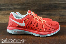 VGC! Nike Dual Fusion Run 2 Womens Size 9 Running Shoes Pink Peach White
