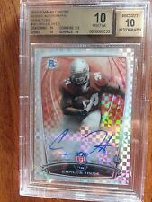 2014 Bowman Chrome Carlos Hyde On Card Auto RC Xfractor /10 SP BGS PRISTINE 10!!