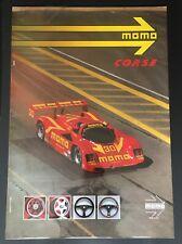 Original MOMO CORSE roues Gebhardt PORSCHE 962 C IMSA GTP 1989 Race poster RARE
