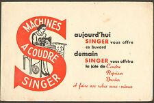 BUVARD SINGER MACHINE A COUDRE SEWING MACHINE PUBLICITE