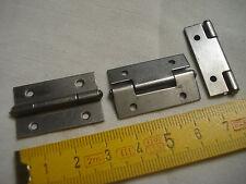 8 charnières de coffret 30 mm par 20 mm (réf D) acier