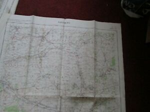 Salisbury Military map 1960 War Office & Ministry map No.167 vintage