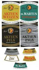 4 alte Bieretiketten Aktien Brauerei Kaufbeuren