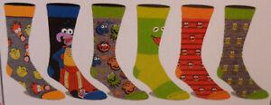 Disney The Muppets NEW 6 Pair CREW SOCKS SIZE 8-12 Bioworld