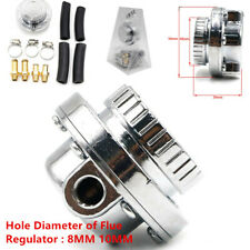 Auto Car Adjustable 1-5 PSI Fuel Pump Pressure Regulator 8mm 10mm Hose Silver