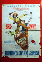 CALAMITY JANE DORIS DAY 1953 RARE EXYU MOVIE POSTER