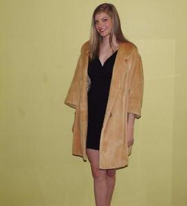 vintage 60s 70s swing pony fur coat L XL