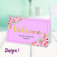 Personalised Table Place Name Cards Printed for Wedding, Conference & Parties