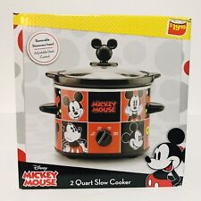 Nib Disney's Mickey Mouse Slow Cooker Pot Red Home Kitchen Small Appliances