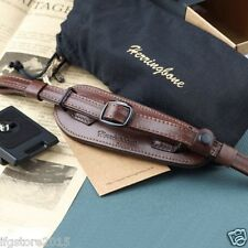 Herringbone Heritage Leather Camera Hand Grip Strap + Plate Brown Type1 for DSLR