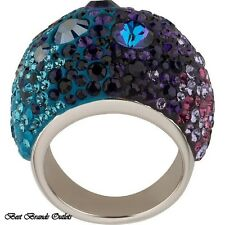 $270 SWAROVSKI<>CHIC PURPLE BLUE CRYSTAL RING # 1110432 SIZE 6 US / 52 EUR<>NIB