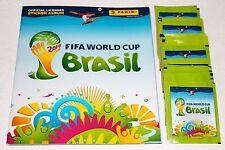 Panini WC WM brasil 2014 14 – 50 bolsas calidad sobres + barra álbum Empty álbum