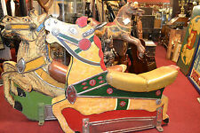 2 Mid 20th Century Carved Wood Hand Painted Fairground Ark/Carousel Horses,c1940