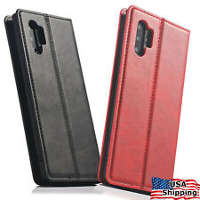 Samsung Galaxy NOTE 10/8/9 S10/S8/S9 Plus Flip Leather Case Card Slot Full Cover