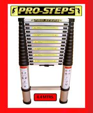 Escalera telescópica 4.4 mtrs. marca Pro-Steps