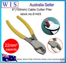 """6"""" Cable Cutter Pliers UP TO 22mm² Copper Aluminium Wire Electrician Tools-81403"""