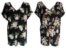 V Neck Short Sleeve Floral Other Women's Tops