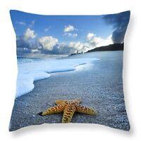 18'' Sea Beach Starfish Conch Pillow Case Cushion Cover  Cotton Linen Home Decor