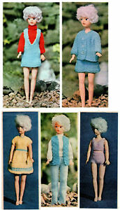 Sindy Barbie Dolls Clothes Knitting Pattern  5 vintage outfits inc undies