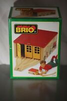 Vintage Deadstock RARE NEW BRIO 33328 WOODEN FIX IT SHED TRAIN SET RETIRED