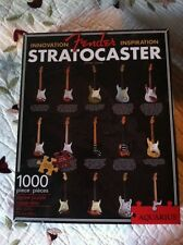 Fender Stratocaster Guitar History 1000 Piece Puzzle By Aquarius Sealed