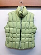 EUC! Post Card Italy Women's Puffer Vest Pale Green Sz US-6 GB-8 F-38 D-36 I-42