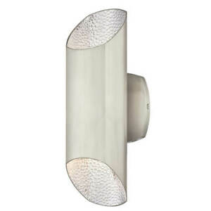 Outdoor Wall Light Fitting Garden Wall Lantern LED Up and Down Carson Nickel
