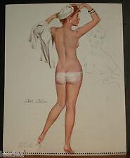 Fritz Willis Pinup Calendar Top July 1973 Redhead Alicia In Naval Sailors Cap