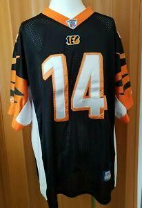 Reebok Onfield NFL Equipment Jersey Size 52 Dalton #14 Cincinnati Bengals