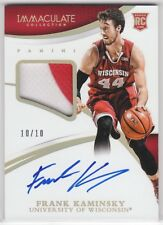 Frank Kaminsky 2015 Immaculate Collegiate GOLD RC Auto Patch RPA Jersey 10/10