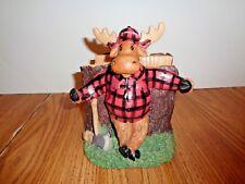 New listing Whimsical Moose Napkin Holder 7'' Tall