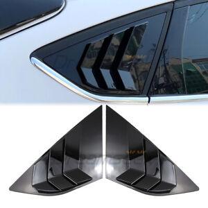 Hinten Seiten Fenster Lamellen Abdeckung für Ford Focus MK3 2012-2018 Schwarz