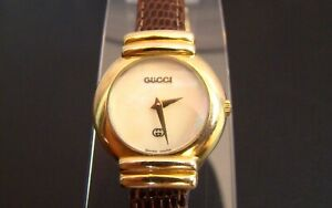 Collectible GUCCI 5300 Women's Gold Vintage watch in its Gucci Box.