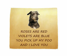 Deerhound I LOVE YOU Microfibre Cleaning Cloth Wipe Fun Gift FROM THE DOG
